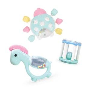 Image 4 - Baby Speelgoed Plastic Hand Jingle Schudden Bel Mooie Hand Schudden Bell Ring 12PCS Baby Rammelaars Speelgoed Pasgeboren Macarons Bijtring speelgoed