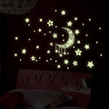 Glow stick wall stickers Wall decorations luminous Moon and stars stickers free shipping