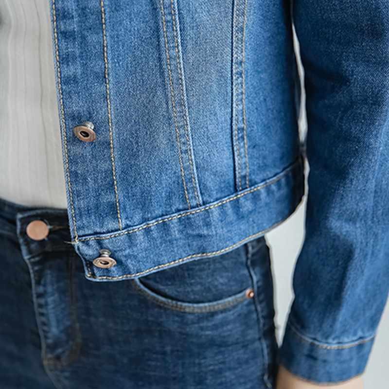 ... EXOTAO 2017, новая мода тонкий короткие джинсовые куртки для женщин с  длинным рукавом Осень Chaquetas cb6b48207fc