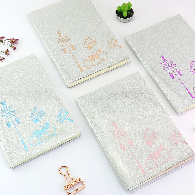 TUTU A5 PVC Notebook Paper Diary School Shiny Cool Kawaii Notebook Paper Agenda Schedule Planner Sketchbook Gift for Gril H0196