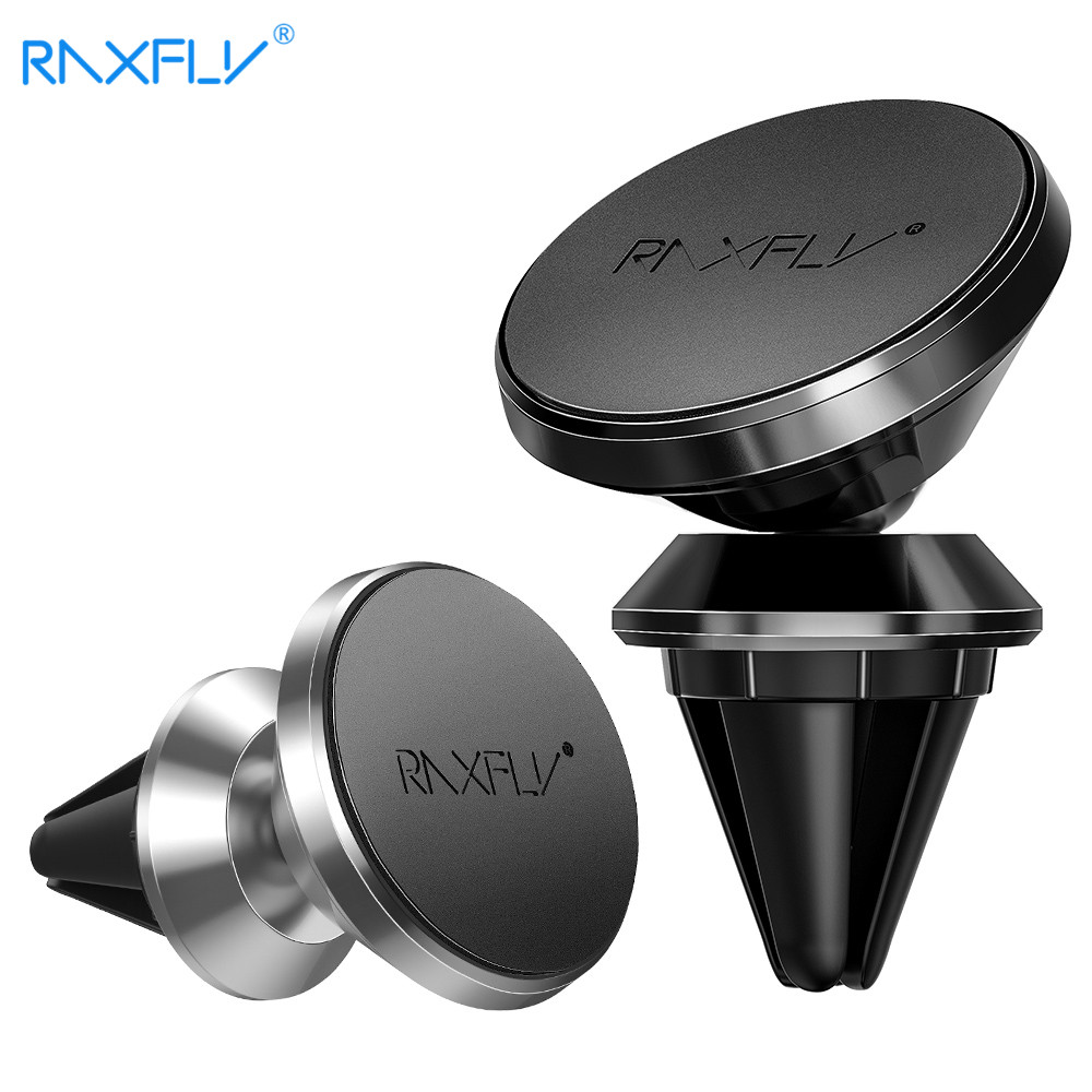 RAXFLY Air Vent Car Phone Holder For IPhone Xiaomi Huawei Magnetic Car Holder For Samsung S8 S9 Plus Note 8 9 Phone Magnet Stand