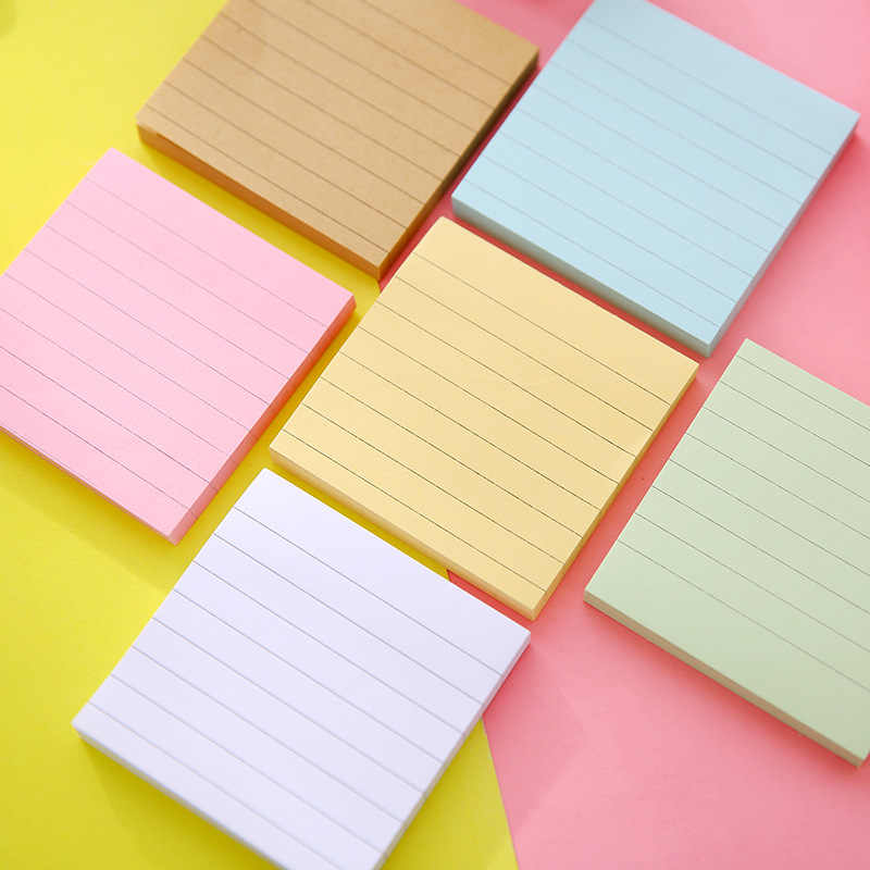 1 pièces T carré Message et bloc-Notes collé sur papier Kraft pour N fois planificateur autocollants Kawaii Notes collantes
