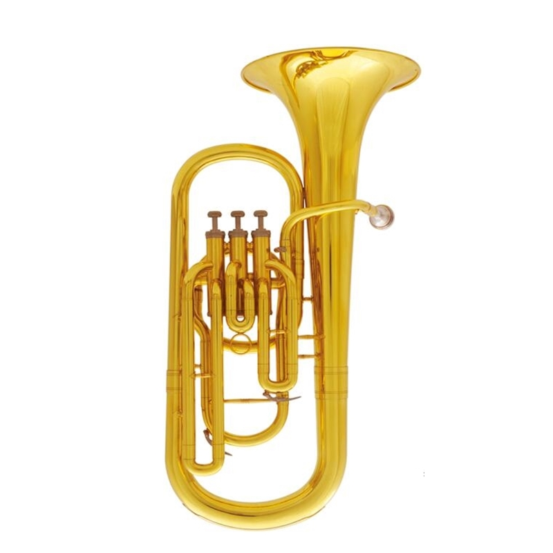 Купить с кэшбэком Musical instruments Baritone Bb 3 Pistons Baritone horn With mouthpiece and case