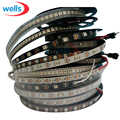 1 m/4 m/5 m WS2812B led Smart pixel tira, Preto/Branco PCB, 30 60/144/120leds/m WS2812 IC; WS2812B/M 30/60/144 pixels, IP30/IP65/IP67 DC5V