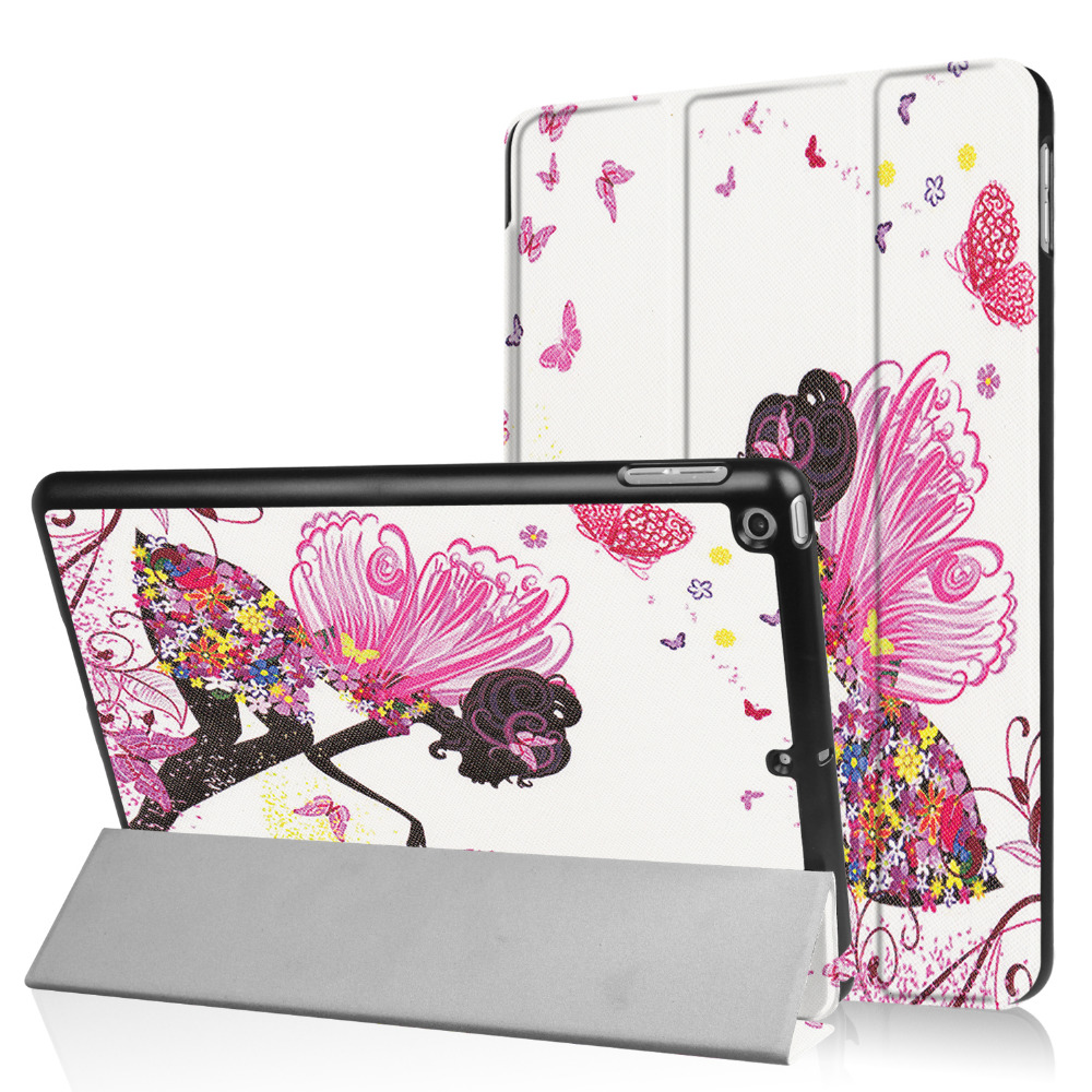 For Apple iPad 9.7 2018 2017 Tablet Colorful Ultra Slim Stand PU Leather Case Print Sleeve Protector Shell Magnet Smart Cover ultra thin smart flip pu leather cover for lenovo tab 2 a10 30 70f x30f x30m 10 1 tablet case screen protector stylus pen
