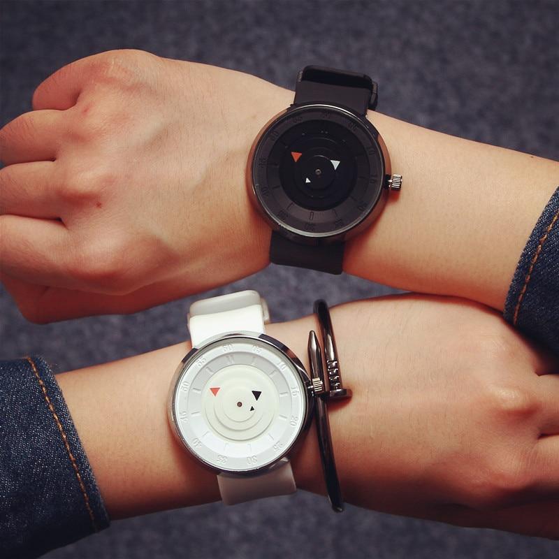 Fashion Big Dial Quartz Mens Women Wristwatch Lovers Watch Simple Design Silicone Unisex Watches Couple Clocks Relogios Genuine
