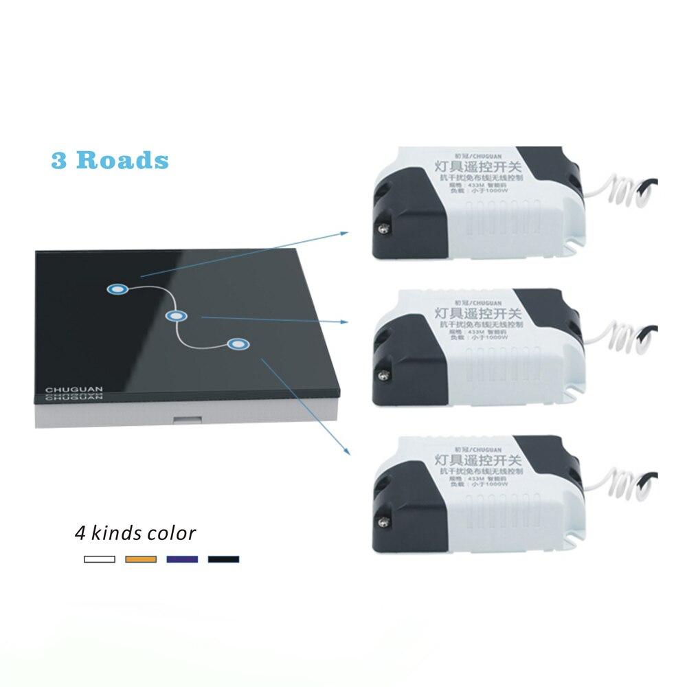 Commutateur tactile sans fil 3 Gang 3 voies Smart Home 220 v commutateur de lumière à la maison longue télécommande interrupteur mural livraison gratuite
