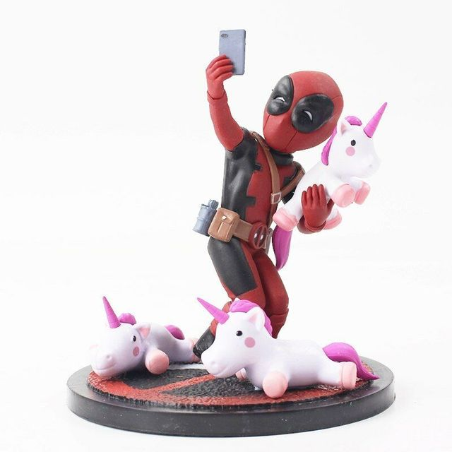 21947cbd56a Deadpool PVC Figures Deadpool Unicorn Selfie Figure Toy Doll X Men Wade  Winston Wilson Collectible Model