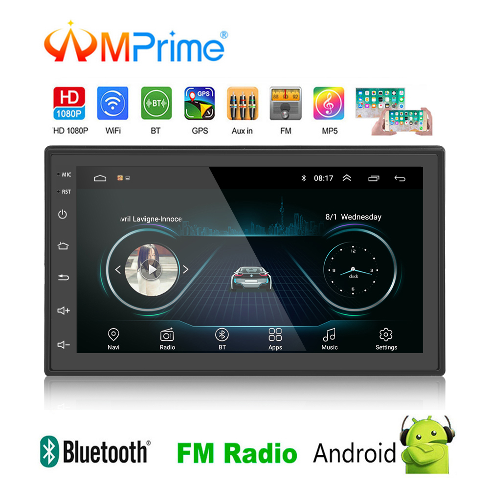 AMPrime 2 Din 7 Android Car Radio Universal GPS Navigation WIFI Bluetooth 2din Multimedia Player Mirror Link USB/SD AutoradioAMPrime 2 Din 7 Android Car Radio Universal GPS Navigation WIFI Bluetooth 2din Multimedia Player Mirror Link USB/SD Autoradio