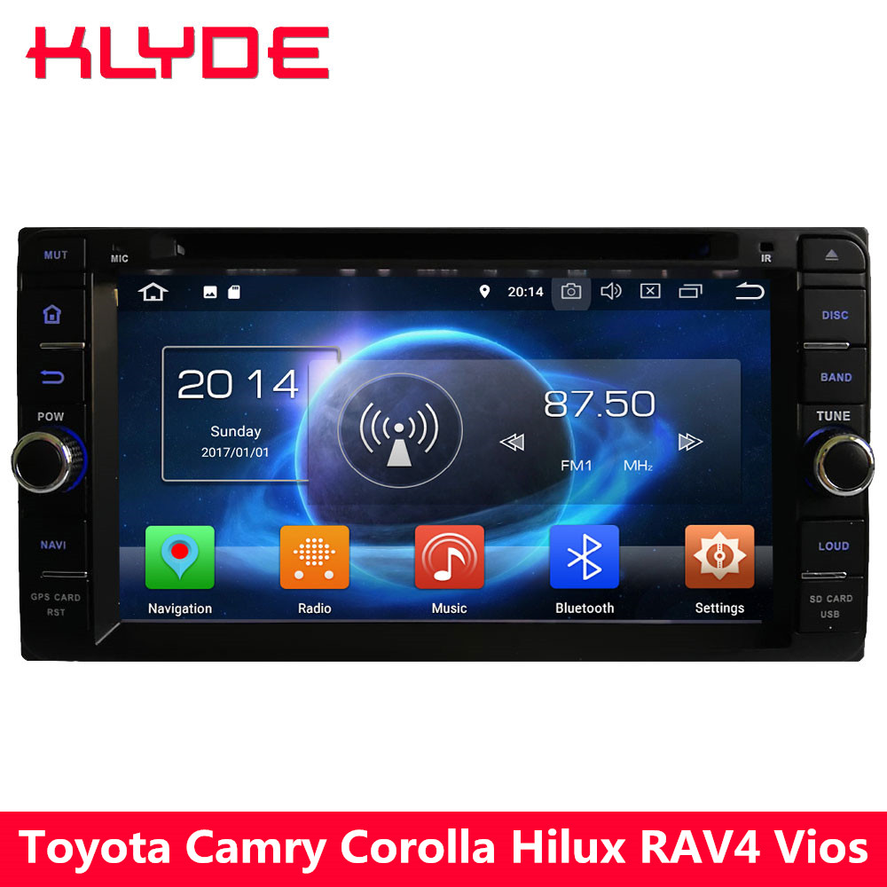 KLYDE 4G Octa Core 4GB RAM+32GB Android 8.0 Car DVD Player Radio For Toyota RAV4 Terios Hiace Prado Previa Crown Camry Tundra