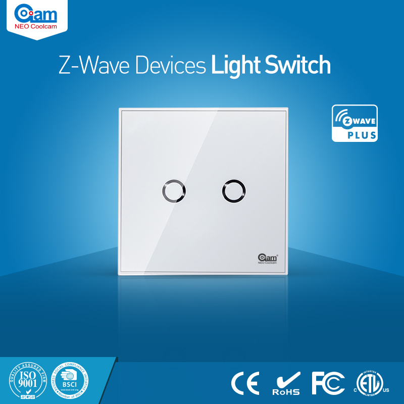 NEO Coolcam Smart Home Z-Wave 1CH EU Wall Switch Sensor Compatible With Z-Wave 300 Series And 500 Series Home Automation