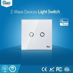 مستشعر التبديل الحائطي من NEO Coolcam للمنزل الذكي Z-Wave 2CH EU متوافق مع سلسلة Z-wave 300 وأتمتة منزلية من سلسلة 500