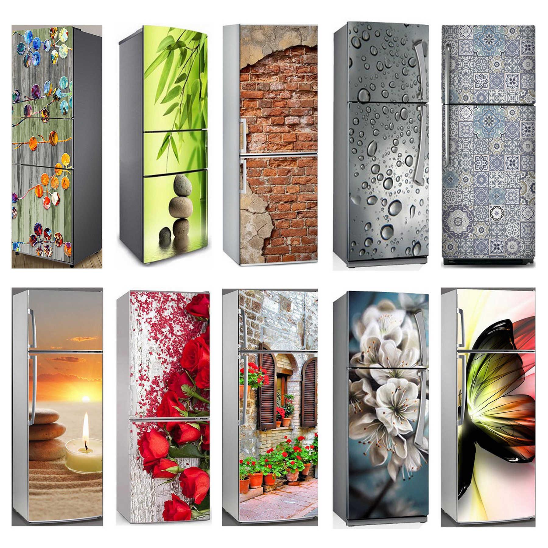 3D Tự Dính Máy Rửa Bát Tủ Lạnh Bọc Tủ Đông Miếng Dán Kid Nghệ Thuật Của Tủ Lạnh Cửa Bao Giấy Dán Tường