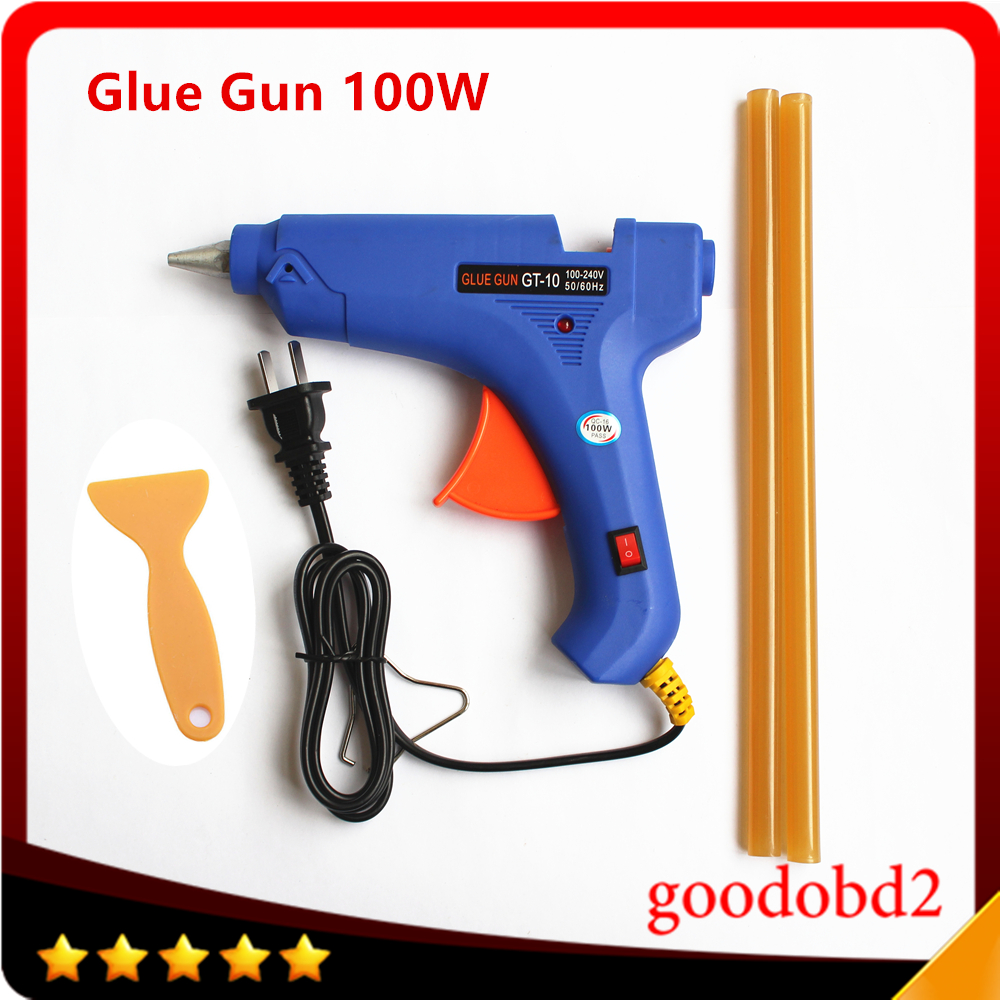 цена на PDR Paintless Dent Repair Tools Dent Removal Tool glue gun 100W Hot melt gun 100-240V gift hot melt glue sticks 2pcs 11mm*260mm