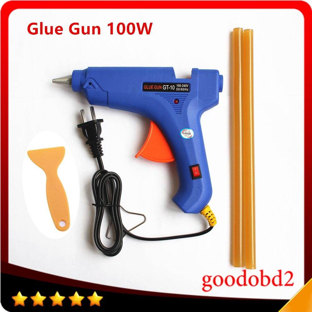PDR Paintless Dent Repair Tools Dent Removal Tool glue gun 100W Hot melt gun 100-240V gift hot melt glue sticks 2pcs 11mm*260mm