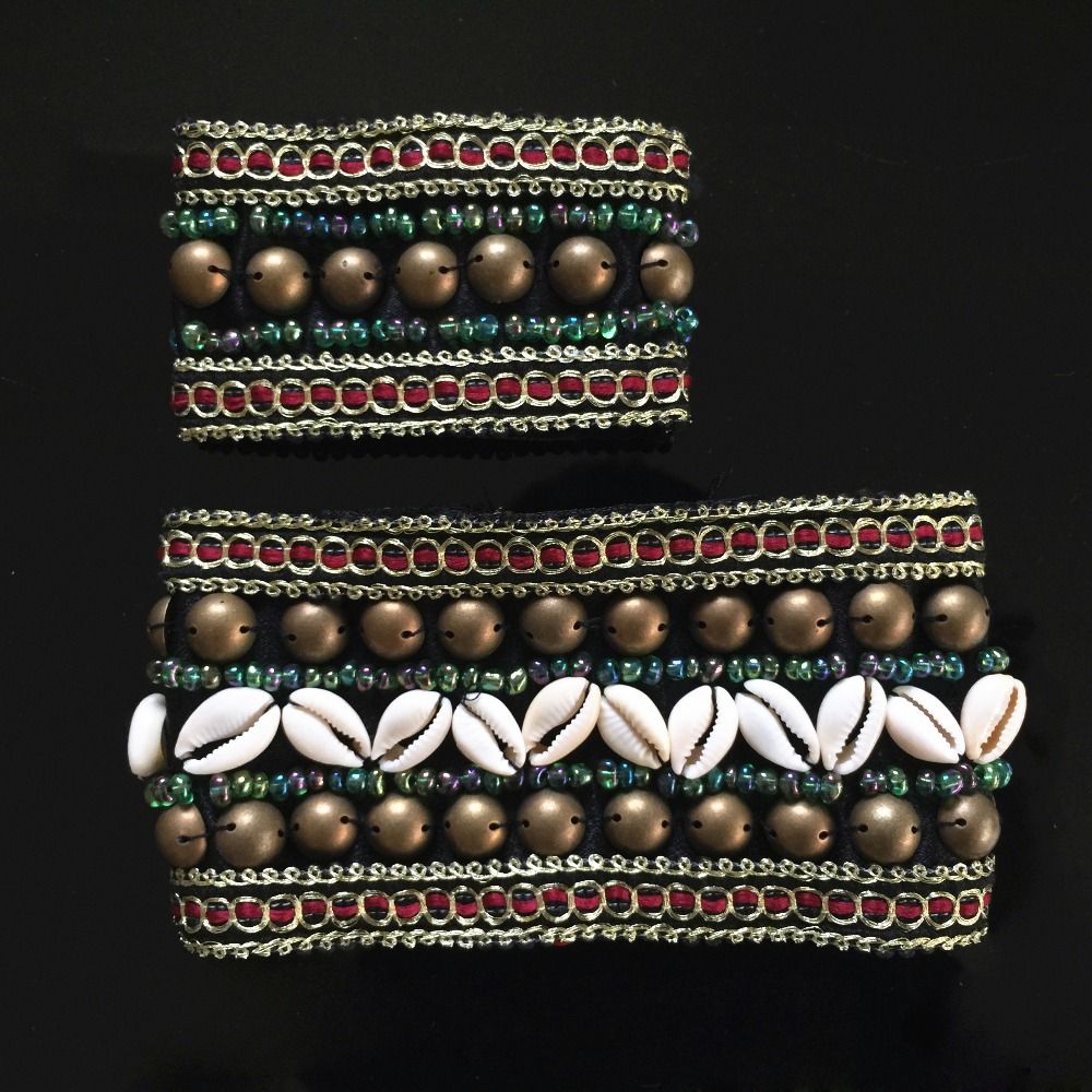 Image 5 - 2019 2 Pieces Set Tribal Belly Dance Costume Accessories Bronze Beads Wristband & Armband Adjustable Fit Gypsy Jewelry Braceletsdance costume accessoriesbelly dance costumestribal belly dance costumes -