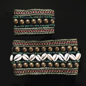 Image 5 - 2019 2 Pieces Set Tribal Belly Dance Costume Accessories Bronze Beads Wristband & Armband Adjustable Fit Gypsy Jewelry Bracelets