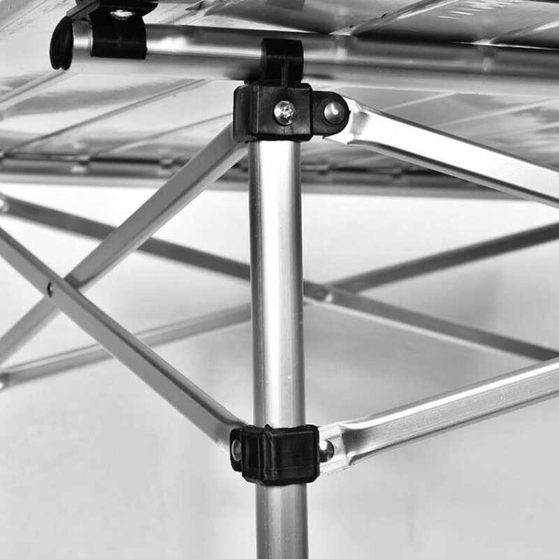 חיצוני קמפינג שולחן אלומיניום מתקפל מנגל שולחן עבור 4-6 אנשים מתכוונן שולחנות נייד קל משקל פשוט גשם הוכחה שולחן
