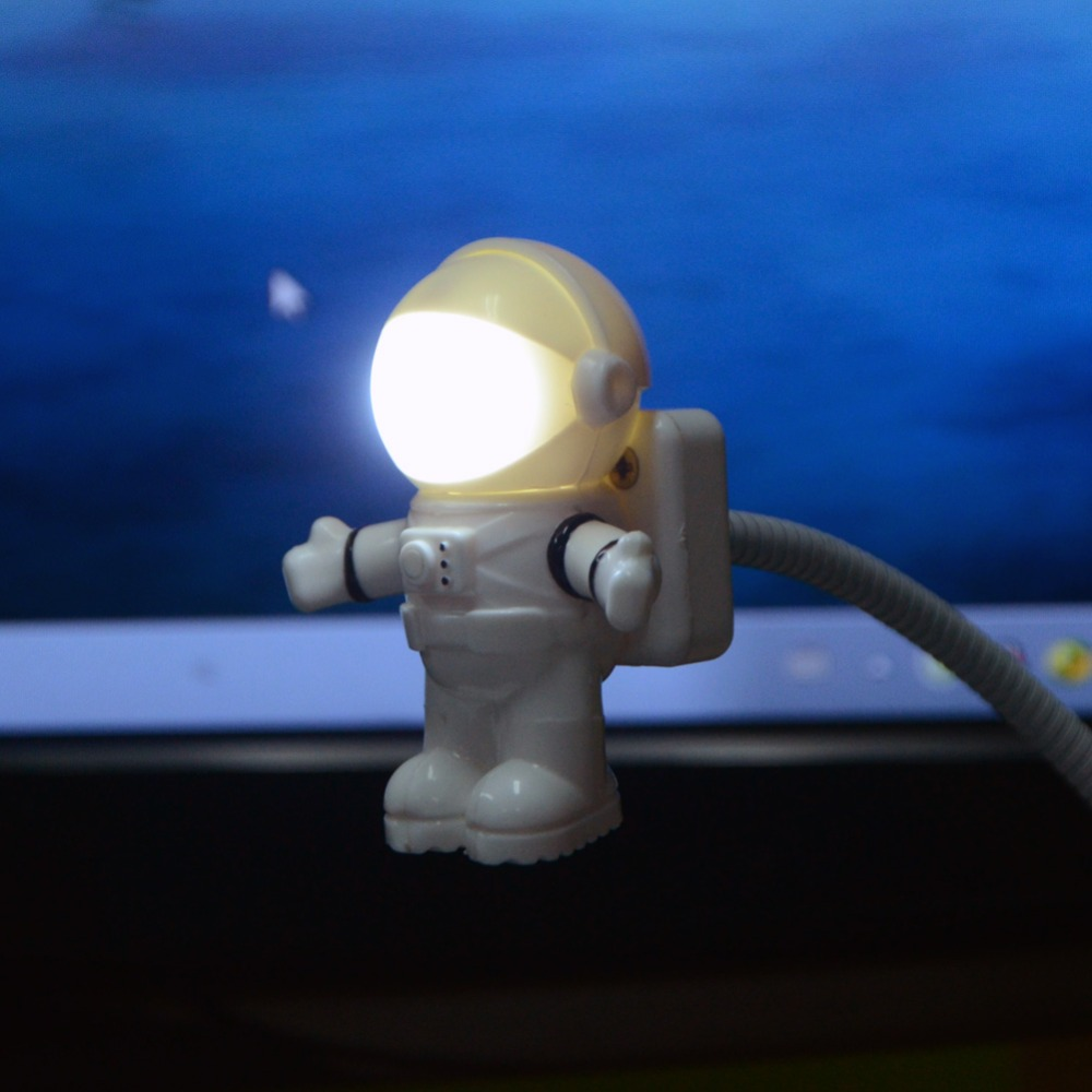 Style Cool Astronaut Spaceman USB LED Adjustable Night Light For Computer PC Lamp Desk Light Pure WhiteStyle Cool Astronaut Spaceman USB LED Adjustable Night Light For Computer PC Lamp Desk Light Pure White