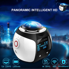 360 Wireless Waterproof Action Camera 4K HD Mini Portable Sport Camera WiFi Remote Sports DV for Driving Swimming VR Camcorder