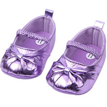 Lovely Princes Baby Girl's Mary Jane Shoes Bowknot Soft Sole Prewalker Shoes(China)
