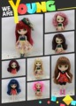 Free shipping Nude Middie blyth Doll Middle Blyth Toy Gift,  1/8 doll(20cm), doll is selling nude, naked doll