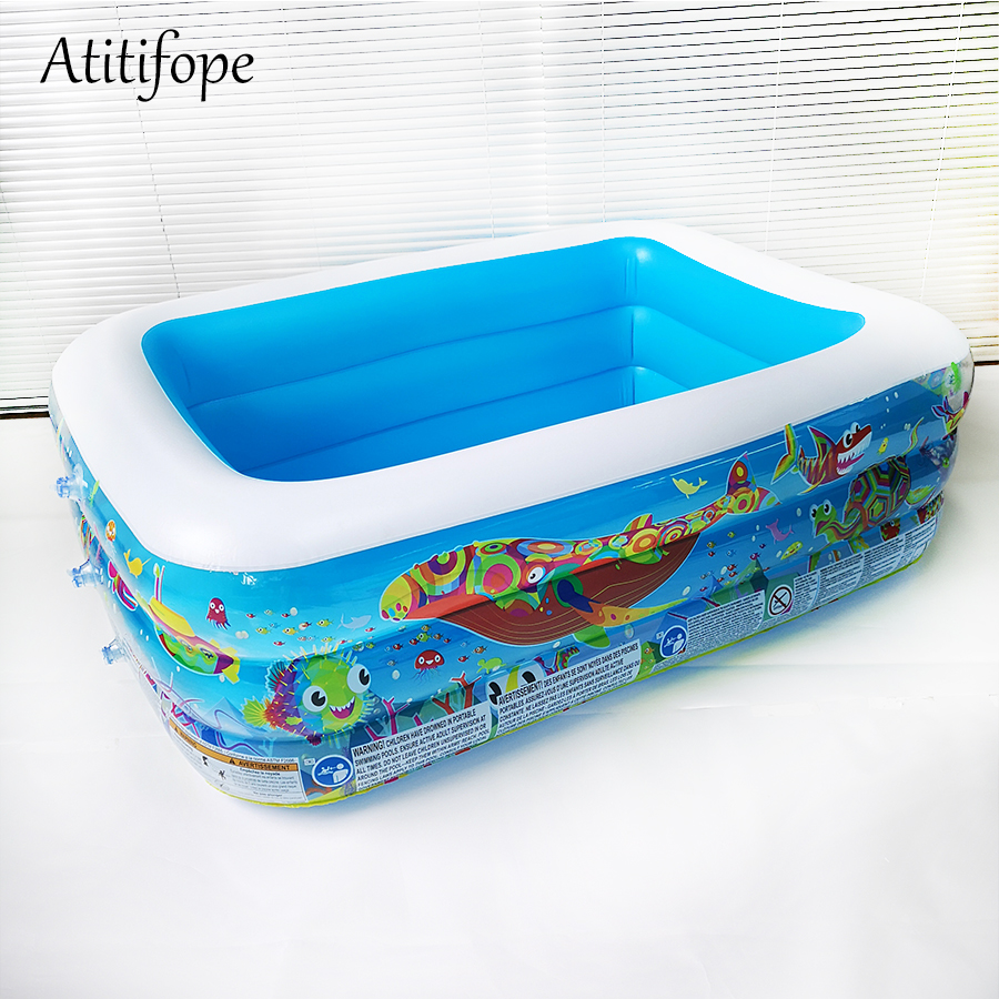 Piscine gonflable à trois couches piscine d'eau en été piscine à balles piscine gonflable pour enfants piscine familiale