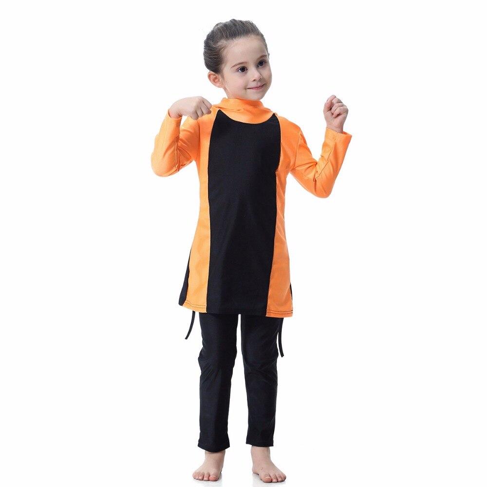 Islamic Muslim Swimwear 2018 Girl Hijab Maillot de bain Burkinis Modest Plus Size Brand Swimsuit Long Sleeve Bathing