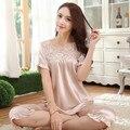 2016 summer sexy women nightgowns suspenders women's nightdress cute young girl home 100% silk nightwear hot