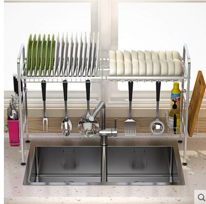 Kitchen, Rack, Steel, Bowl, Sink, With