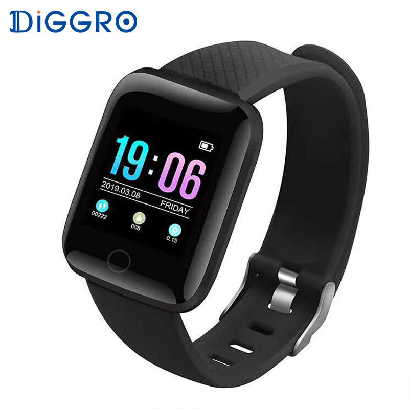 Diggro 116 Plus Bluetooth Smart Watch Men IP67 Waterproof Blood Pressure Heart Rate Monitor Fitness Tracker Smartband