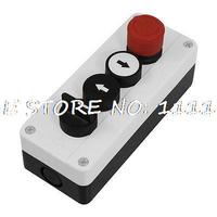 Momentary 3 Postion Rotary Selector Black White Emergency Stop Pushbutton Switch