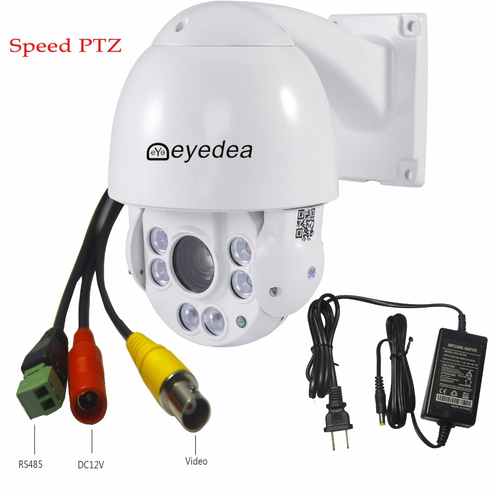 Eyedea 36x Zoom 1080P 2.0MP CCTV Security Outdoor Speed Dome 5500TV AHD PTZ Waterproof RS 485 IR Night Vision Pan Tilt Camera 7 2mp 4 in 1 high speed dome cvi ahd camera 36x optical zoom 100m ir night vision waterproof ip66 ptz camera
