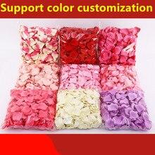 5500 sztuk/partia 5*5cm sztuczny jedwab romantyczny płatek róży dekoracje ślubne ślub kwiat róży kwiat ślub dywan dekoracji