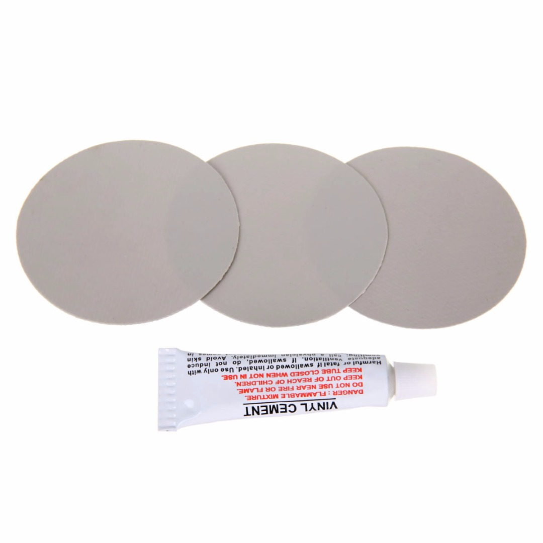 3 Pieces Light Grey Circular PVC Repair Patches For Inflatable Rubber Boat PVC Puncture Repair Patch Glue Kit Adhesive Canoe ゲーム ポート ピン