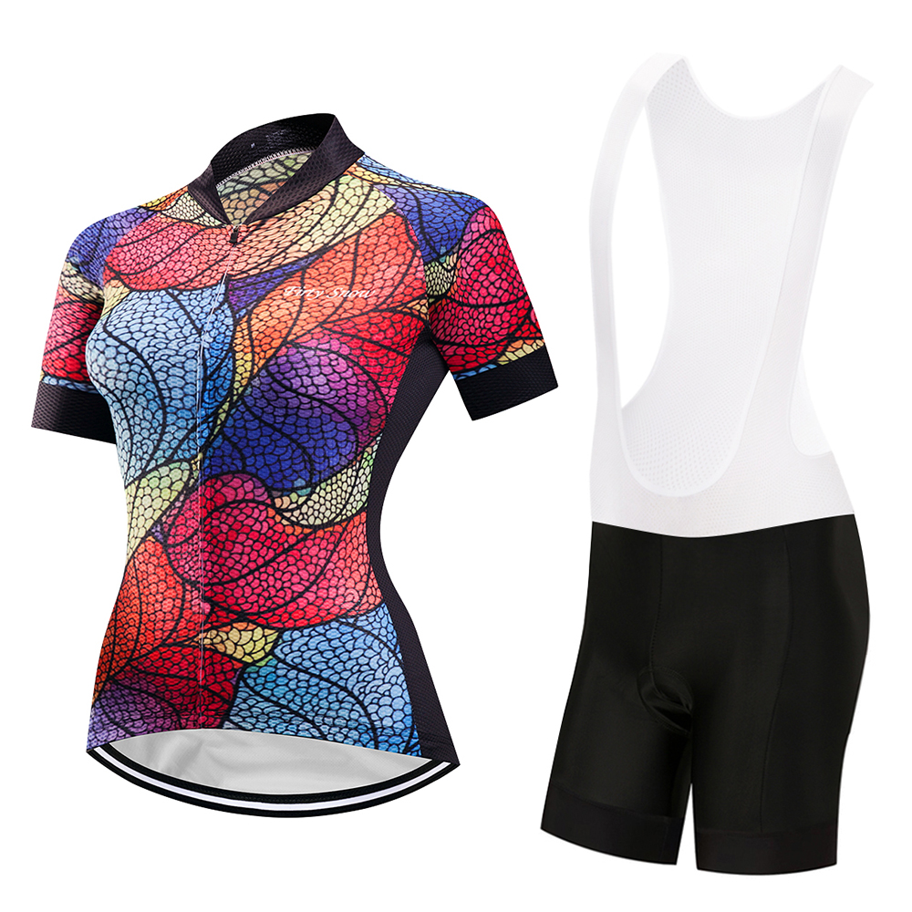 2017 New Spring Long Sleeve Woman UV Protect Cycling Jerseys Suit Mountain Bike Quick Dry Breathable Riding Jersey Clothing Sets