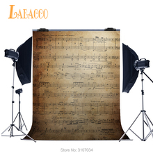 Laeacco Music Scores Wall Photography Backdrops Vinyl Baby Portrait Photo Backgrounds For Studio Custom