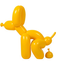Vinyl Pooping Balloon Dog Figure Art Figurine Resin Craft Mighty Balloons Dog Statue Home Decorations Xmas Gift R1011