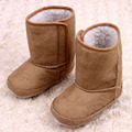 2017 Autumn Plush Baby Boots Unisex Warm Baby Shoes Boys Girls Winter Snow Boots Soft Sole Toddlers Shoes Thermal First Walkers