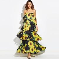 Sisjuly Designer Women Layered Maxi Dress Chiffon Black Autumn Summer Backless Dresses Vacation Beach Spring Women