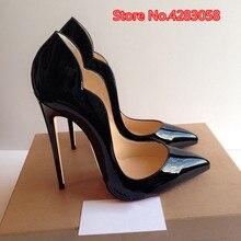 Free shipping fashion women Pumps lady Black Patent leather