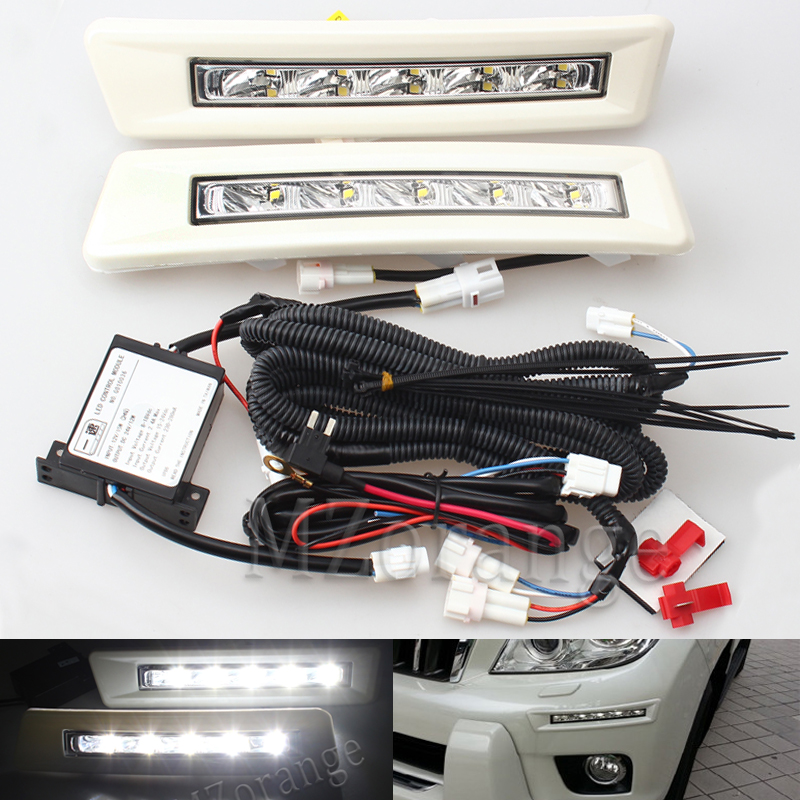 MZORANGE DRL LED Daytime Running Light Fog Light for Toyota LAND CRUISER Prado 2700 FJ150 LC150 2009 2010 2011 2012 2013 Newest led drl for toyota land cruiser prado 120 lc120 fj120 2003 2009 daytime running lights with light off function