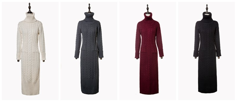 OHCLOTHING 19 European winter wool knitting female thickening noble temperament self-cultivation long bottom Sweaters 4
