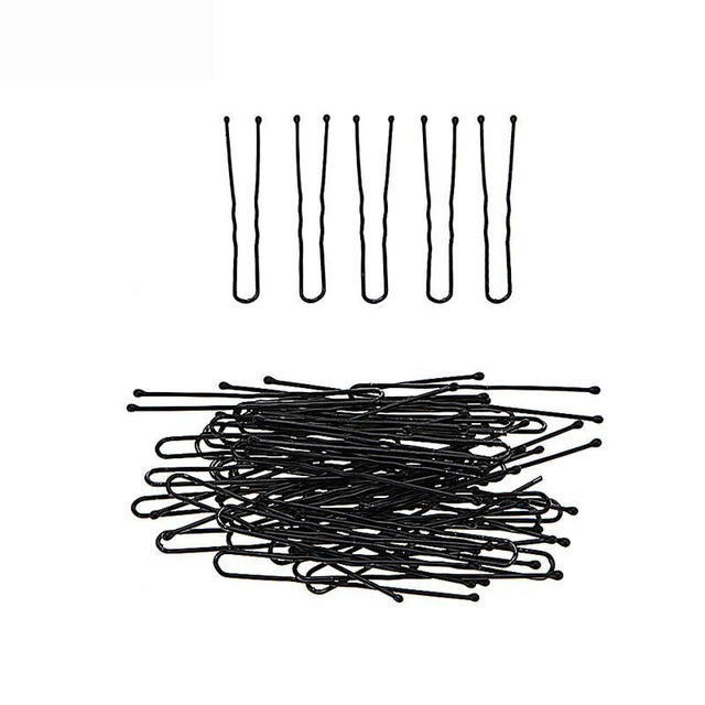 50Pcs/set Pro Hair U Clips 5cm Black Bobby Pins Curly Wavy Grips Hairstyle Barrette Hairpin Hair Hairdressing Styling DIY Tools