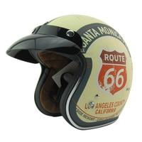 Free Shipping TORC HELMET Casco Capacete Open Face Vintage Motorcycle Helmet Can Add Bubble Shield Jet