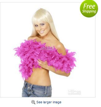 Rosa Chandelle Boa di Piume 200 cm/pz Wrap Burlesque Can can Saloon Sexy Costume Accessorio Turchia Marabù Boa di Piume Molti Colori