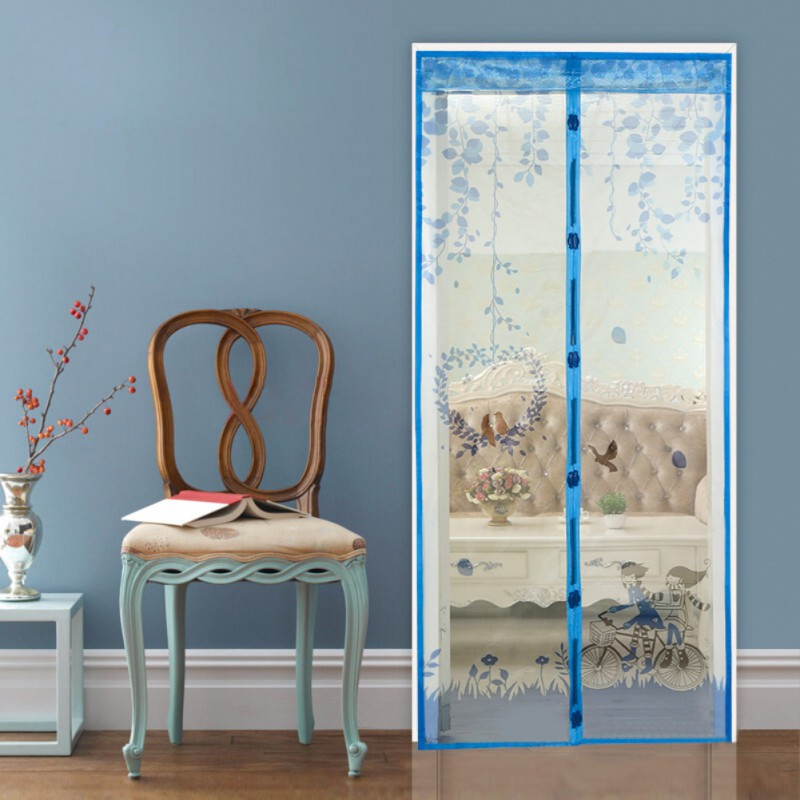 New Summer Mosquito Curtain Anti-mosquito Mesh magnetic Curtains Soft Yarn Door Tulle Window Screen