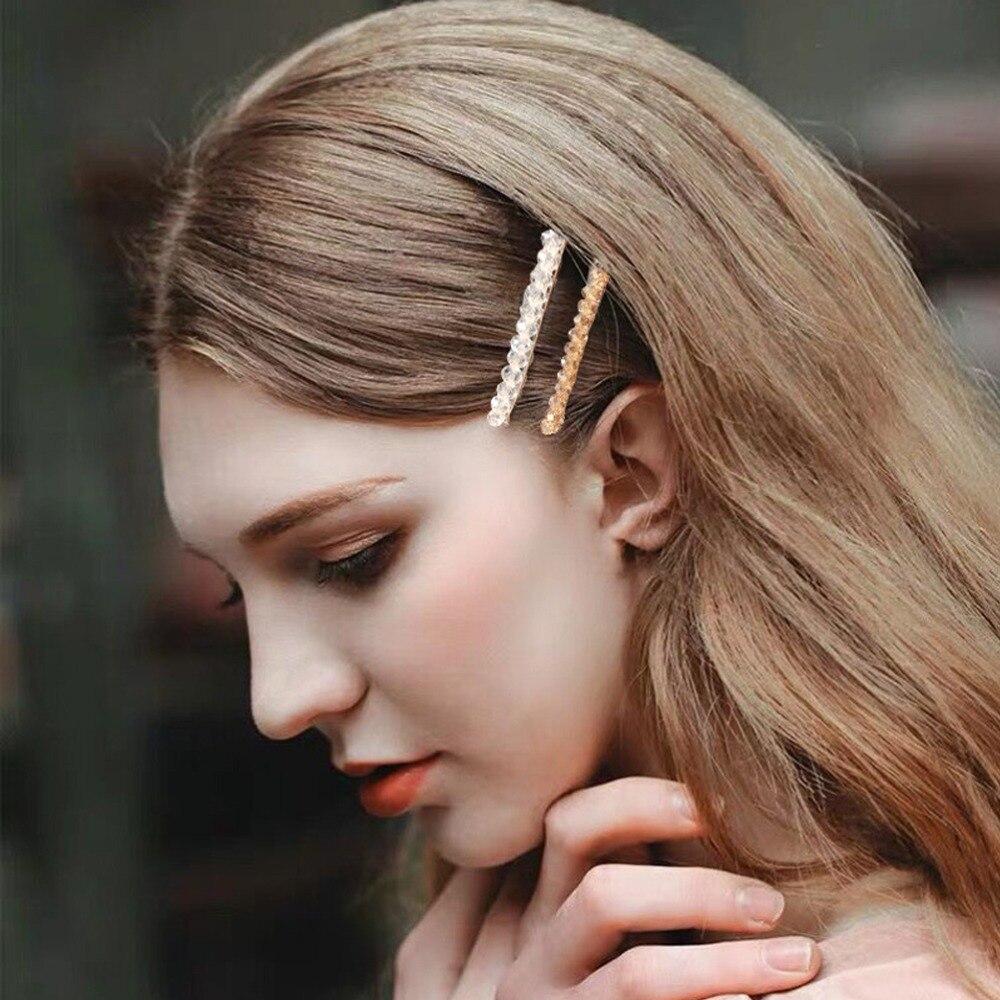 Back To Search Resultsapparel Accessories M Mism 4pcs/set Ins Hot Korean Fashion Crystal Barrette Hairpins Hair Clips Women Girl Geometric Hair Accessorie Para El Cabello
