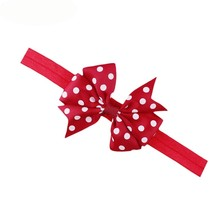 Newly Design Lovely Children Kids's Elastic Hair Band Princess Little Girl Polka Dot Bowknot Hairband 160726 Drop Ship(China)