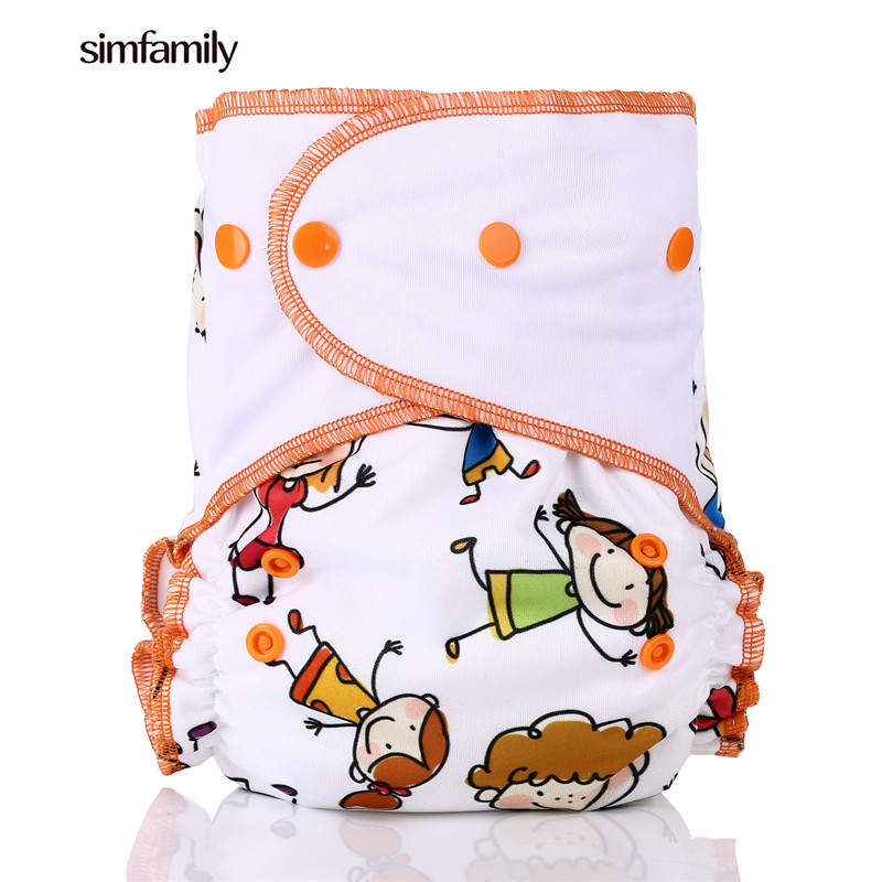[simfamily] New Arrival Waterproof Suede Cloth One Size Reusable Pocket Diapers Baby Cloth Diaper PUL Baby Nappy Wholesales